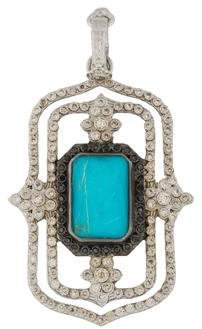 Armenta Turquoise, Quartz & Diamond Scroll Enhancer