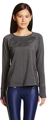 Janestyle (ジェーンスタイル) - (ジェーンスタイル)janestyle フィットネス 保湿クルーネックシャツ[レディース] JS650 92 チャコール M