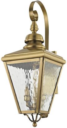 Cambridge Silversmiths Livex Lighting Livex 3-Light Ab Outdoor Wall Lantern