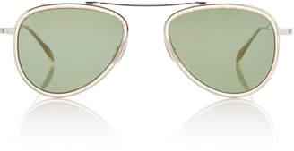 Mr. Leight Ichi 51 Aviator-Style Titanium And Acetate Sunglasses