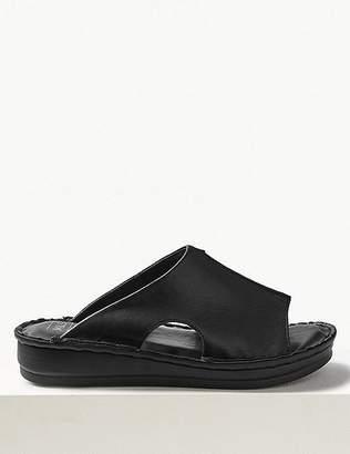Marks and Spencer Leather Flatform Seamed Sliders