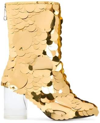 Maison Margiela Socks sequin embellished boots