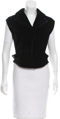 Alice by Temperley Quilted Velvet Vest $85 thestylecure.com
