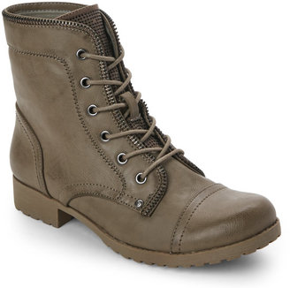 g by guess Grey Belva Combat Boots $79 thestylecure.com