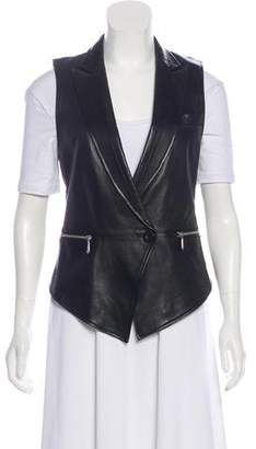 Rebecca Minkoff Accented Leather Vest