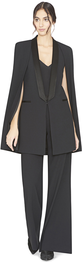Alice + Olivia Merrie Shawl Collar Cape Vest