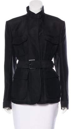 Tom Ford Silk & Wool Belted Jacket w/ Tags