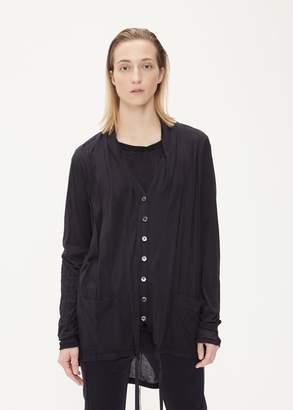 Ann Demeulemeester Asymmetrical Button Down Cardigan