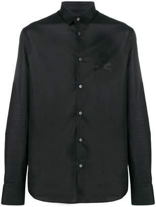 Philipp Plein rhinestone skull shirt