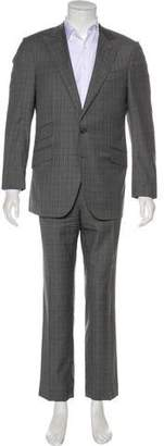 Caruso Plaid Wool Suit