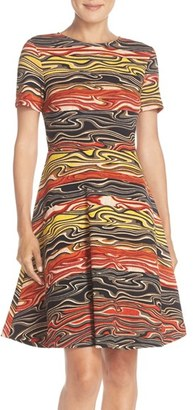 Women's Eci Print Knit Fit & Flare Dress $88 thestylecure.com