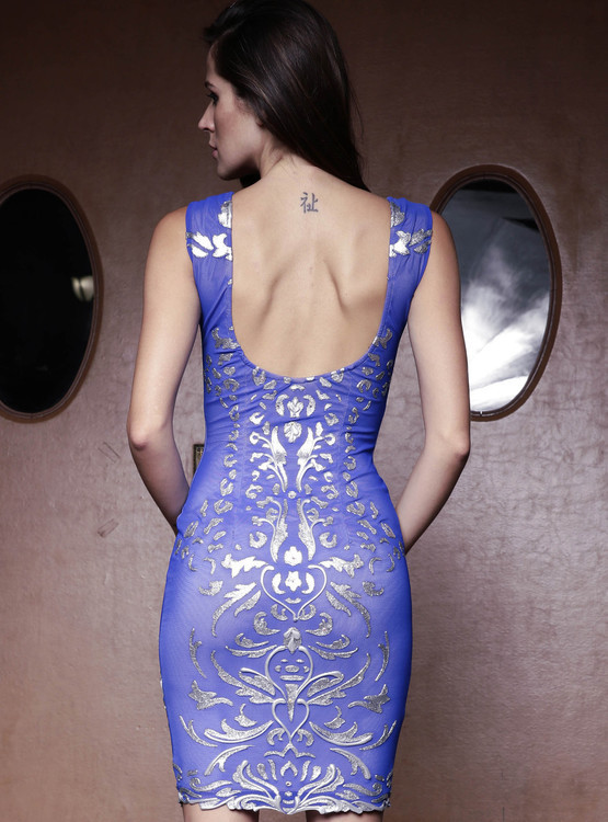 Baccio Couture - Melissa - 2824 Mesh Short Dress