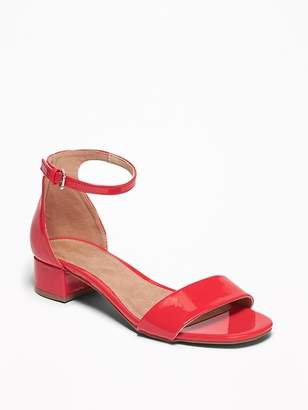 Old Navy Faux-Patent Low-Heel Sandals for Women