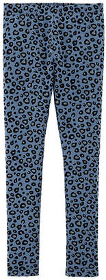 Carter's Psg Blue Leopard Print Legging Knit Leggings Girls