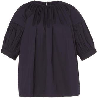 Co Short Sleeve Flared Dress