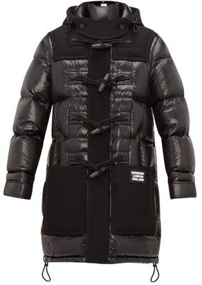 Burberry Hooded Technical Wool And Quilted Down Coat - Mens - Black