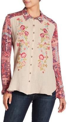ARATTA Pink Sand Beaches Linen Shirt