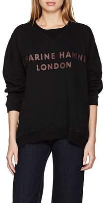 "Katharine Hamnett Women's ""Vince"" Logo Cotton Oversized Sweatshirt"