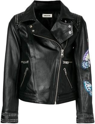 Zadig & Voltaire Zadig&Voltaire print biker jacket