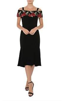 Anthea Crawford Black Crepe Dress
