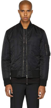 Diesel Black Gold Black Back Graphic Bomber Jacket