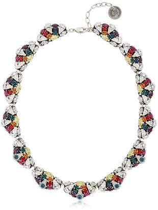 Anton Heunis Crystal Leaf Necklace