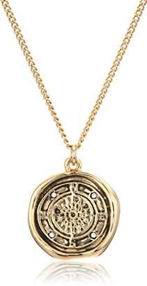 Rachel Roy Womens Talisman Compass Pendant Chain Necklace