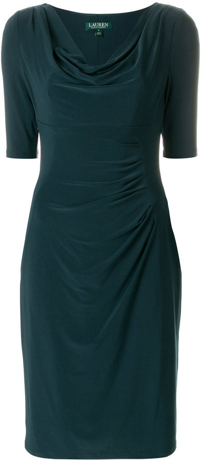 Ralph Lauren cowl neck dress