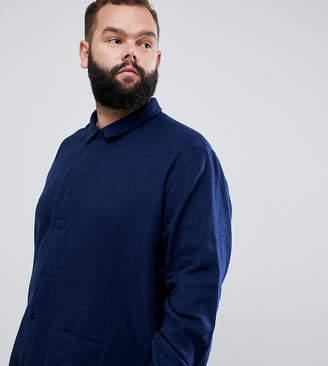 Jacamo Utility Pocket Shirt In Navy
