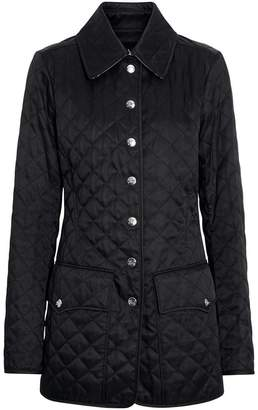 Burberry Logo Button Diamond Quilted Jacket
