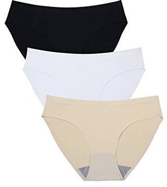 dbef9b32c9 Wealurre Breathable Underwear Women Seamless Bikini Nylon Spandex Mesh  Panties(B W A
