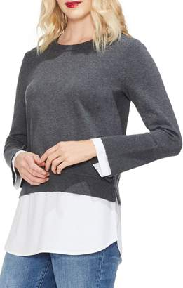Vince Camuto Layered Crewneck Sweater