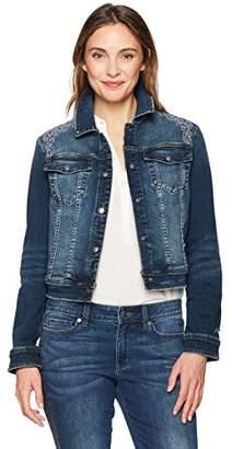 Denim Crush Women's Rhinestone Encrusted Denim Jacket