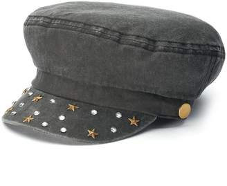 Mudd Women's Rhinestone & Star Stud Cabbie Hat