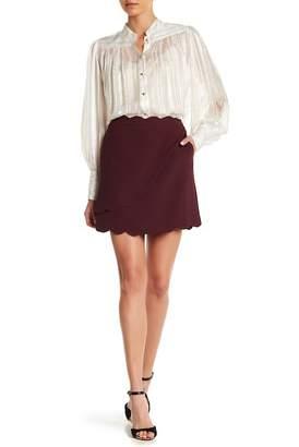 Ted Baker Nelliye Scalloped Faux Wrap Mini Skirt