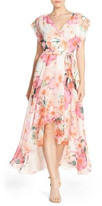 Women's Eliza J Floral Print Chiffon High/low Dress $158 thestylecure.com