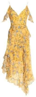 Nicholas Ava Cold-Shoulder Ruffled Silk-Georgette Midi Dress