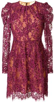 MICHAEL Michael Kors scalloped floral lace dress