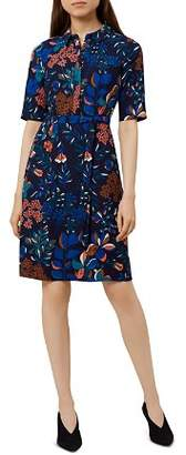 Hobbs London Dahlia Botanical Print Shirt Dress