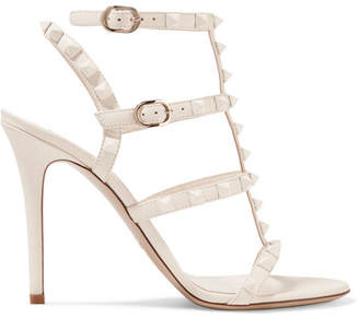 Valentino Garavani The Rockstud Leather Sandals - Ivory