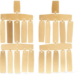 Annie Costello Brown - Roma Gold-tone Earrings