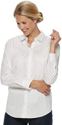 Croft & Barrow Petite Easy Care Button Down Shirt