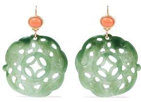 Kenneth Jay Lane Gold-Tone Stone And Resin Earrings