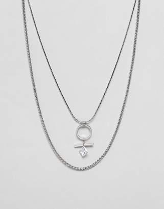 NY:LON Rhinestone Drape Necklace