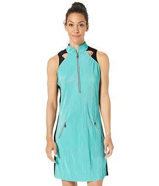 Jamie Sadock Crunchy Sleeveless Dress with Shorties