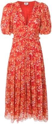 HEMANT AND NANDITA floral print midi dress