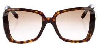 Stella McCartney Oversize Tortoiseshell Sunglasses