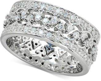 Giani Bernini Cubic Zironia Crown Ring in Sterling Silver, Created for Macy's