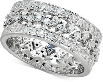 Giani Bernini Cubic Zironia Crown Ring in Sterling Silver