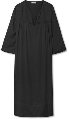 James Perse Voile Midi Dress - Black